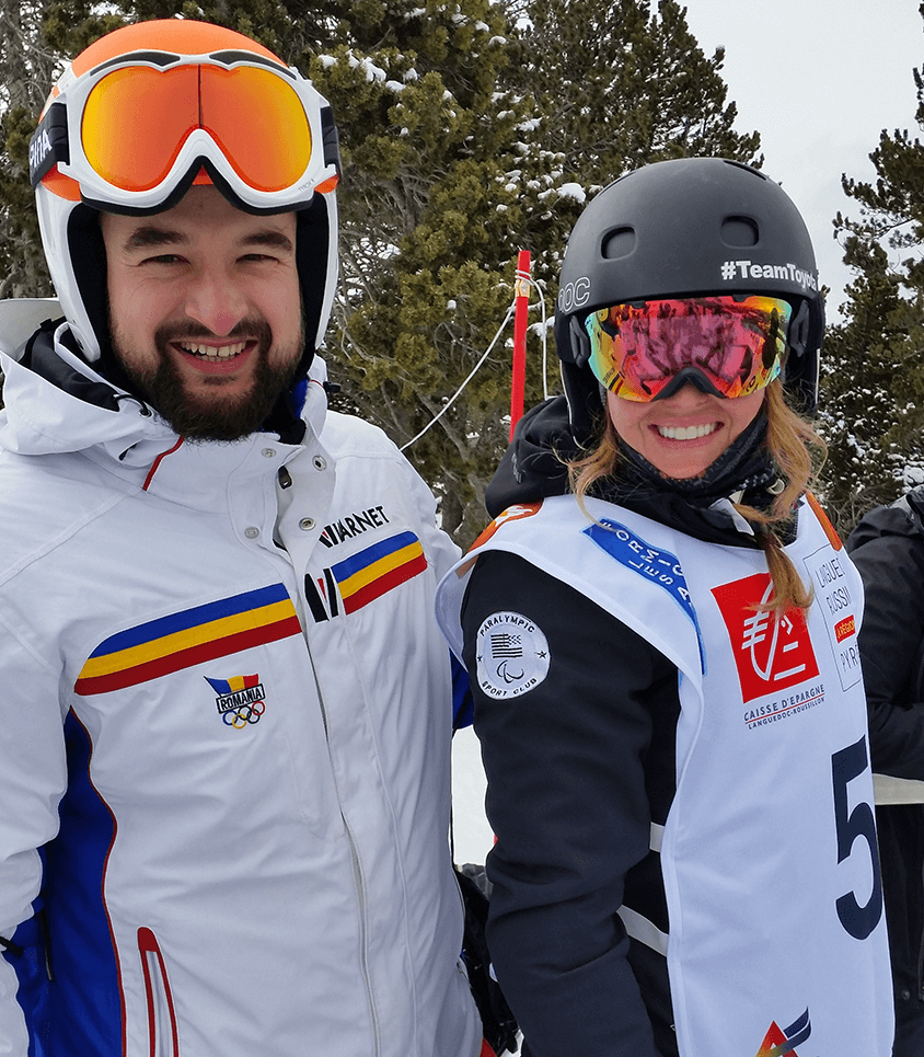 Mihaita Papara, Romania si Amy Purdy, SUA in Les Angles, Franta
